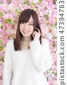 年輕女士的髮型 47394763