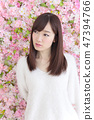年輕女士的髮型 47394766