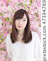 年輕女士的髮型 47394769