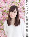 年輕女士的髮型 47394770