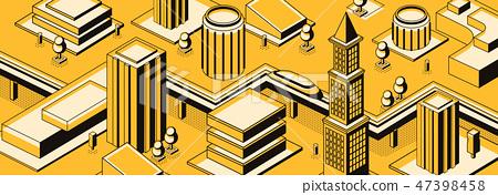 Future metropolis streets vector background 47398458