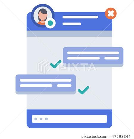 Live chat flat illustration 47398844