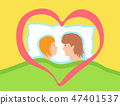 A couple of lovers together in bed. 47401537