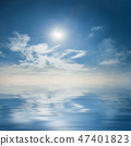 Majestic sky reflection in water, 47401823