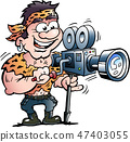 Cool Action Hero Movie Star 47403055