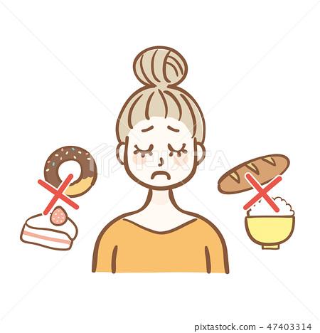 碳水化合物限制飲食女性 47403314