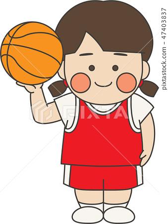 여성 캐릭터 농구 47403837