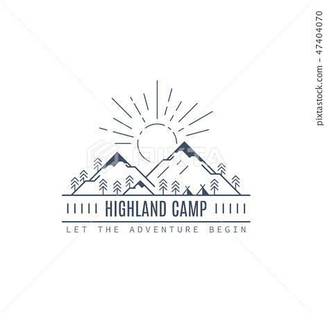 Highland camp logo design 47404070