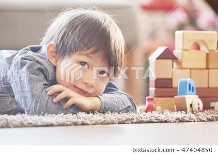 블록놀이,유아,어린이,아기,베이비,거실,집,주택 47404850