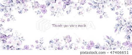 優雅的水彩玫瑰花朵 47406651