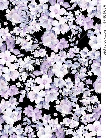 優雅的水彩玫瑰花朵 47406656
