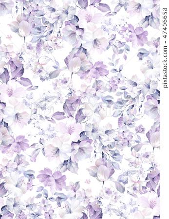 優雅的水彩玫瑰花朵 47406658
