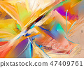 Abstract colorful oil, acrylic painting on canvas 47409761