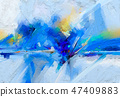 Abstract colorful oil, acrylic painting on canvas 47409883