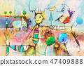 Abstract colorful fantasy. oil, acrylic painting 47409888