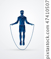 Sport man Jumping Rope graphic vector 47410507