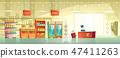 Vector background of empty supermarket, shop, store 47411263