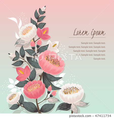 Vector illustration of a floral bouquet in spring 47411734