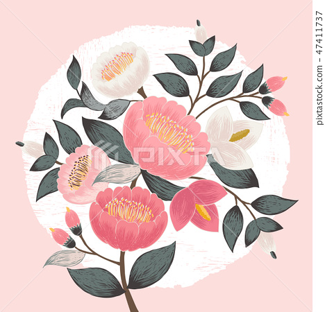 Vector illustration of a floral bouquet in spring 47411737