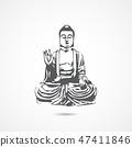 Chinese buddha icon 47411846