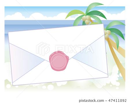 信封,海豹和海灘 47411892