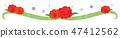 소재 - 어머니의 날 (카네이션 라인, 짧은) 25 테크 47412562