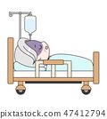 Senior men lying on sickness 47412794