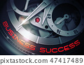 Business Success on the Elegant Pocket Watch Mechanism. 3D. 47417489