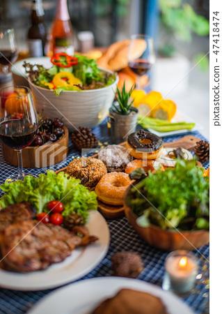 christmas eve dinner party food festive  47418474
