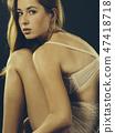 Sexy woman posing in underwear 47418718