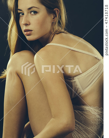 a0ff4be85ef Sexy woman posing in underwear - Stock Photo  47418718  - PIXTA