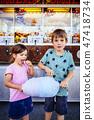 children, eating, cotton 47418734