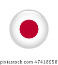 Japan flag on button 47418958