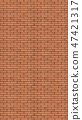 Vertical brick wall background. 47421317