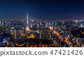 Panorama of Tokyo cityscape at night, Japan. 47421426