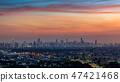 Cityscape at twilight in Bangkok, Thailand. 47421468