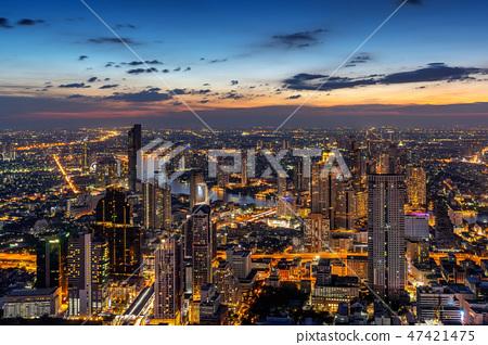 Aerial view of Bangkok cityscape, Thailand 47421475
