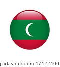 Maldives flag on button 47422400