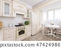 Modern beige colored luxury kitchen 47424986