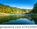 View of landscape with a lake, The Plitvice Lakes. 47425090