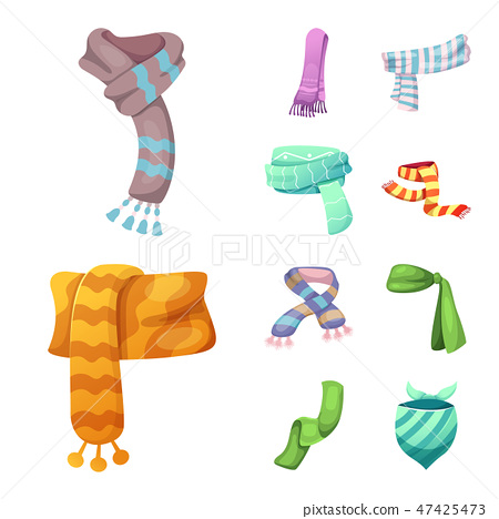 Isolated object of scarf and shawl icon. Collection of scarf and accessory stock symbol for web. 47425473