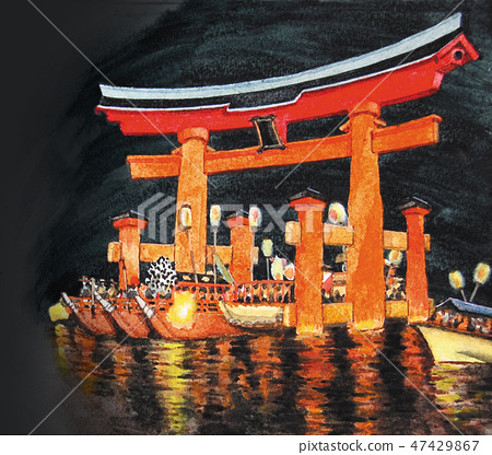 Aki's Miyajima festival festival 47429867