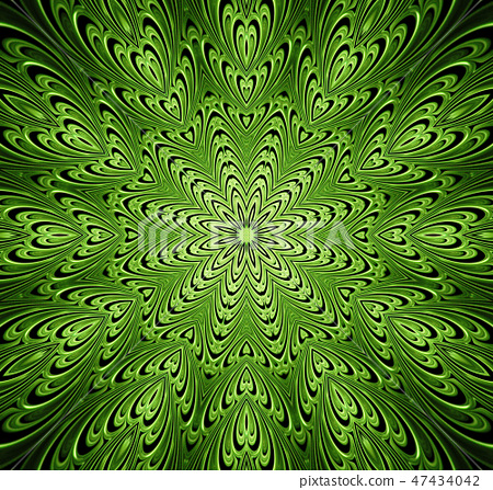 abstract fractal futuristic green pattern 47434042