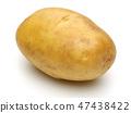 Fresh whole potato on white background 47438422