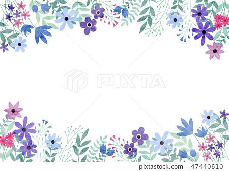 꽃밭 프레임 블루 계열 47440610