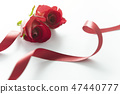 gift box and red roses on white background 47440777