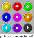 Ninja Star, shurikens icon sign. symbol on nine ro 47448549