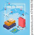 travel, vector, isometric 47448678