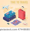 travel, vector, isometric 47448680