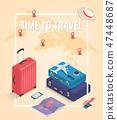 travel, vector, isometric 47448687